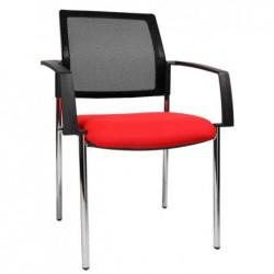 """TOPSTAR Lot de 2 chaises de bureau """"filet BtoB 10"""", rouge"""