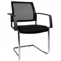 "TOPSTAR Lot de 2 chaises de bureau ""filet BtoB 20"", noir"