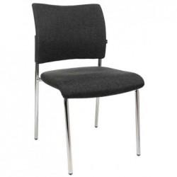 """TOPSTAR Lot de 2 chaises de bureau """"rembourrage Visit 10"""", noir"""