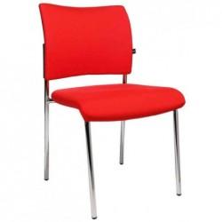 """TOPSTAR Lot de 2 chaises de bureau """"rembourrage Visit 10"""", rouge"""