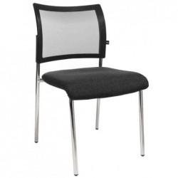 """TOPSTAR Lot de 2 chaises de bureau """"filet Visit 10"""", anthracite"""