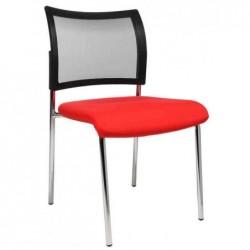"TOPSTAR Lot de 2 chaises de bureau ""filet Visit 10"", rouge"