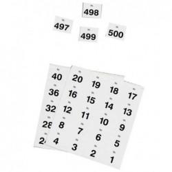 HERLITZ Chiffres adhésifs 24 mm numérotés de 1-500 Noir sur Blanc