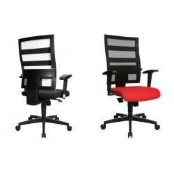 """TOPSTAR Chaise pivotante de bureau """"X-Pander"""", noir / rouge"""