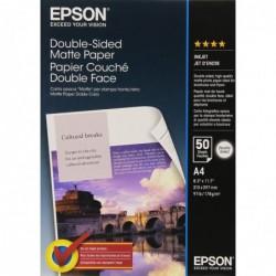 EPSON Boite de 50 feuilles A4 Papier Photo Jet d'encre Mat 178g Recto/verso Blanc