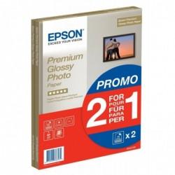 EPSON Pack de 2 x 15 Papier photo Premium Glossy A4 255 g