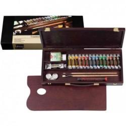 ROYAL TALENS REMBRANDT Coffret bois Peinture à l'huile TRADITIONAL