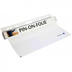PAPYRUS Rouleau de feuille PIN-ON Tableau blanc 60x80 cm adhérence electrostatique