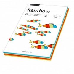 PAPYRUS ramette de 100 feuilles A4 multifonction Rainbow couleurs assorties