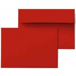PAPYRUS paquet de 250 enveloppes Rainbow, Format C6, 120 g/m2, rouge