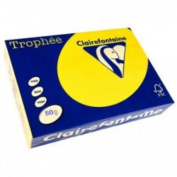 TROPHÉE Ramette 500 Feuilles Papier 80g A4 210x297 mm Certifié FSC  jaune soleil