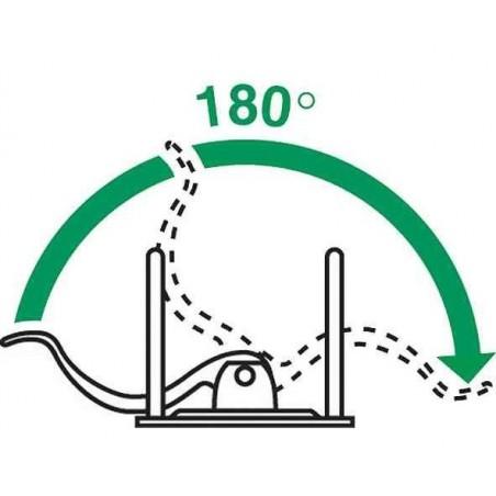 LEITZ Classeur à levier 180° plastifié WOW Dos de 80 mm Vert