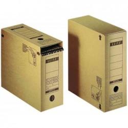 LEITZ paquet de 10 boîte à archives avec rabat de fermeture, en carton