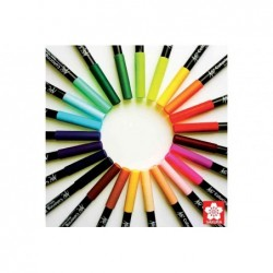 SAKURA stylo pinçeau Koi Coloring Brush, jaune vert