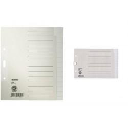 LEITZ Répertoire en papier nature, neutre, A5, 15 positions gris