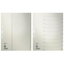LEITZ intercalaires en papier naturel, numériques, format A4