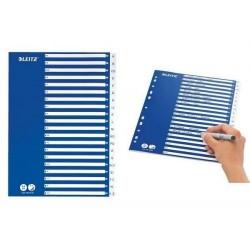 LEITZ Intercalaire plastique, A-Z, A4, 21 divisions, PP,