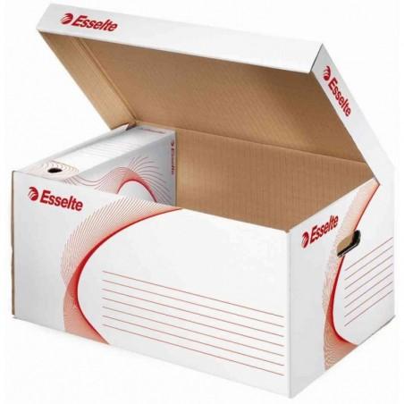 ESSELTE Container Archivage carton ondulé blanc (L)560 x (P)370 x (H)275 mm à l'unité