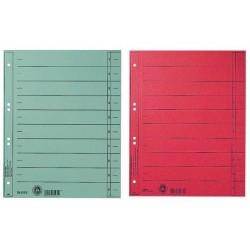 LEITZ intercalaires, format A4 extra large,en carton manille