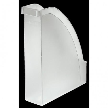 LEITZ Porte-revues Plus pour A4 polystyrène Dos 70 mm 78 x 300 x 278 Transparent Givré
