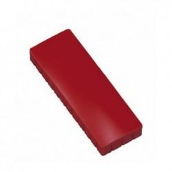 MAUL Boite de 10 Aimants MAULsolid 54x19 mm Puiss. 1 kg Rouge