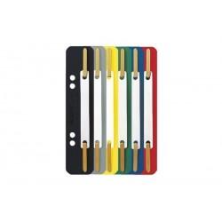 LEITZ Fixe-documents, 35 x 158 mm, carton en couleur, jaune