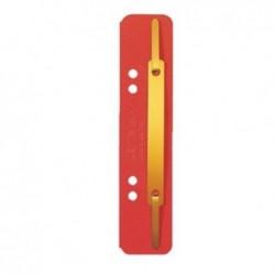 LEITZ PQt de 25 Fixe-documents à lamelles 35 x 158 mm carte 320g Rouge