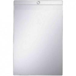 LEITZ Etui Pochette transparente A5 PVC 0,20mm souple rabats et trou d'accroche