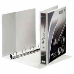 LEITZ Classeur 4 anneaux personnalisable Soft Clic Diam 60 mm Dos 83 mm
