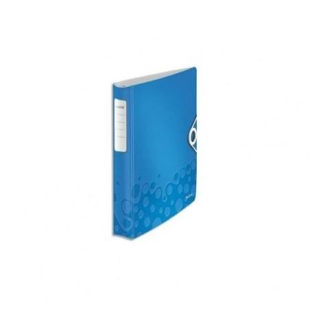 LEITZ Classeur à anneaux A4 Active SoftClick WOW Dos de 50 mm Bleu