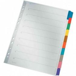 LEITZ Intercalaires carton blanc A4 10 divisions Onglet couleur