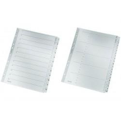 LEITZ Répertoire en carton mylar, chiffres, A4, 1-10, gris