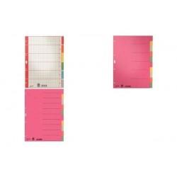 LEITZ intercalaires en carton, vierges, A4, blanc, 6 onglets