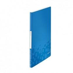 LEITZ Reliure WOW protège-documents PP 20 pochettes 40 vues Bleu Métallisé