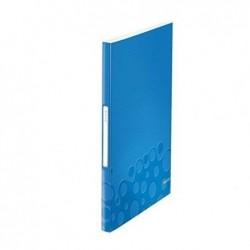 LEITZ Reliure WOW protège-documents PP 40 pochettes 80 vues Bleu Métallisé