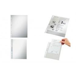 LEITZ pochette perforée, format A4, PP, grenelé, 0,10 mm,