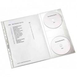 LEITZ Sachet de 5 Pochettes perforée avec rabat CD A4 PP 0,12 mm