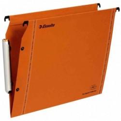 ESSELTE Boîte de 25 dossiers suspendu LMG Orange fond 15 mm pour Armoire