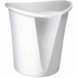LEITZ Corbeille à papier Allura, en plastique, 18 l, blanc