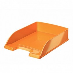 LEITZ Corbeille à courrier Plus WOW, A4, polystyrène, orange
