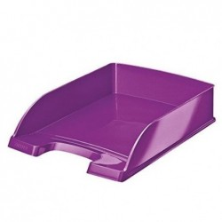 LEITZ Corbeille à courrier Plus WOW, A4, polystyrène, violet