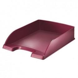 LEITZ Corbeille à courrier Style rouge grenat - Dimensions : L25,5 x H7 x P35,7 cm