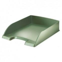 LEITZ Corbeille à courrier Style vert celadon - Dimensions : L25,5 x H7 x P35,7 cm