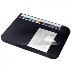LEITZ Sous-main Soft-Touch à rabat Transparent 530 x 400 mm Noir