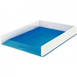 LEITZ Corbeille de courrier WOW Duo Colour, format A4, bleu