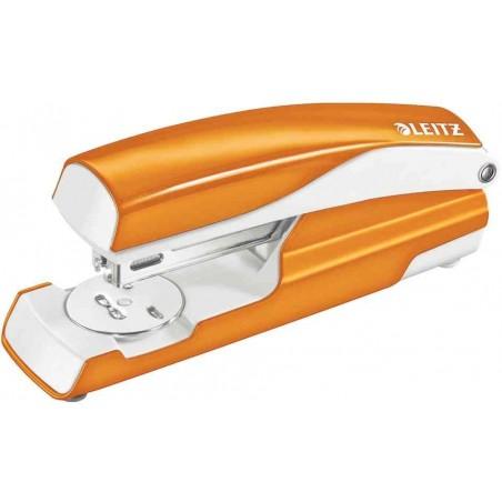 LEITZ Agrafeuse métal Orange métalisé capacité 30 feuilles pour agrafes 24/6-26/6