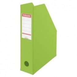 ESSELTE Boîte à pan coupé Porte-revues PVC dos 7 cm Livré à plat Vert