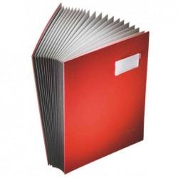 LEITZ parapheur, revêtement en PP, 20 compartiments, rouge,