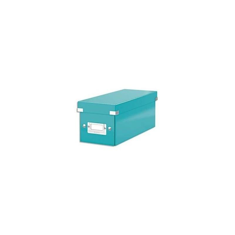LEITZ Boîte de rangement Leitz Click & Store - Format CD Bleu Glacé
