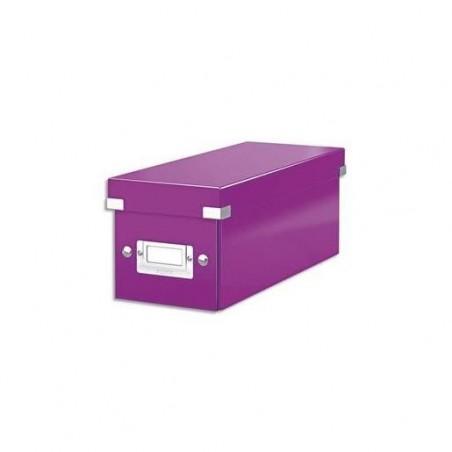 LEITZ Boîte de rangement Leitz Click & Store - Format CD Violet